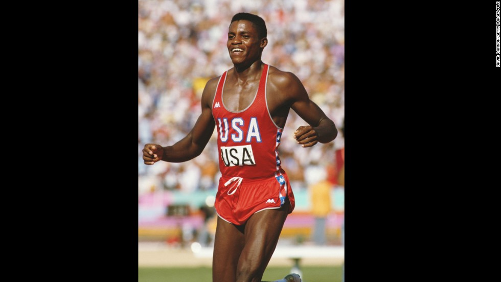 American athlete Carl Lewis achieved victory on the world stage during the 1984 Summer Olympics with his lifelong dream of matching Jesse Owens' four gold medals in a single Games.