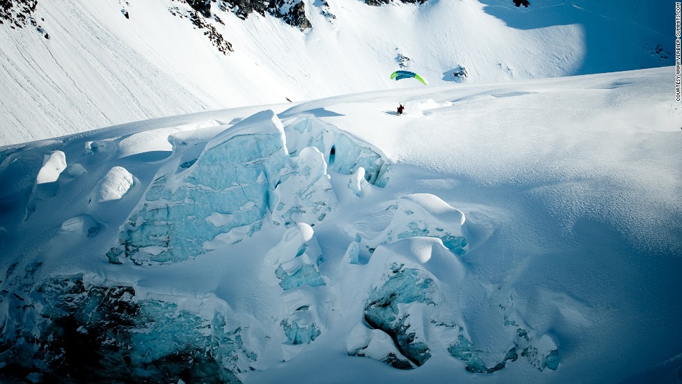 Verbier Summits takes speed flying off the slopes and onto glaciers. If the heart attack-like adrenaline rush isn't enough to convince anyone to try this, the landscape might.