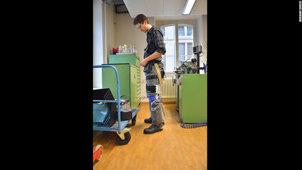 The device offers a wearable alternative for work areas where chairs or stools would take up too much floor space.