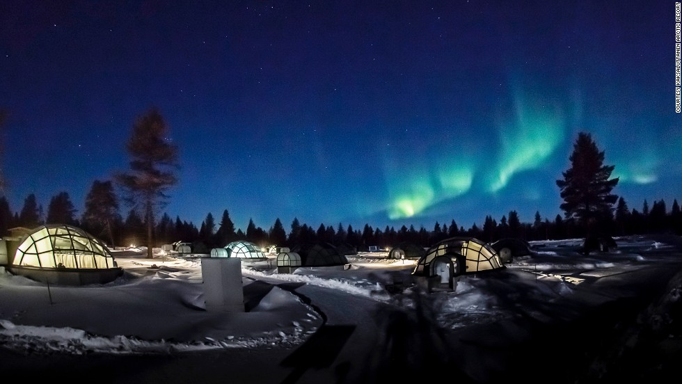 "<em>Kaksaluttanen Arctic Resort, Lapland</em><br /><br />Imagine watching the northern lights in Finland through the transparent, geometric roof of your own glass igloo, or stargazing in Chile through the window of your specially designed cabin-observatory, or watching the weather roll in over rugged Julian Alps from your a-frame hut two thousand meters above sea level.<br /><br />The eternal human drive to escape it all in a wilderness hideaway is increasingly finding expression in the architecture of hide-outs and cabins.<br /><br />Inspired by ""<a href=""http://shop.gestalten.com/hide-seek.html"" target=""_blank""><strong>Hide and Seek: The Architecture of Cabins and Hide-Outs</a><strong></strong>,</strong>"" a new book of photography, published by <a href=""https://shop.gestalten.com/"" target=""_blank"">Gestalten</a>, celebrating some of these incredible designs, CNN Style takes a survey of some of the most awe-inspiring.<br /><br />The glass domes pictured are the heated glass igloos of <a href=""http://www.kakslauttanen.fi/"" target=""_blank"">Kaksaluttanen Arctic Resort</a> in Lapland, northern Finland, where visitors can experience the peculiar magic of the ""kaamos"" or polar night and perhaps catch a glimpse of the greeny-blue aurora borealis lighting up the sky.<br />"