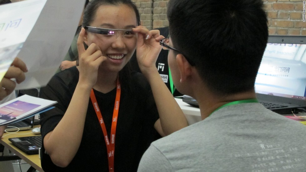 Start-up Mobvoi.com has designed the first Chinese app on Google glass, Chumenwenwen. The app allows users to get directions, weather and restaurant information through using voice commands in Chinese.