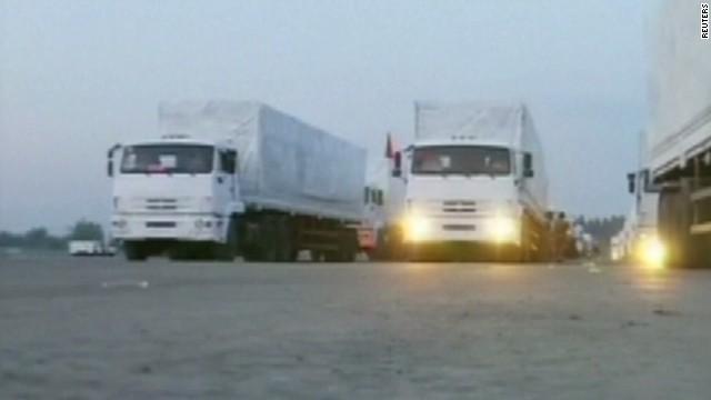 Russian aid convoy raises questions