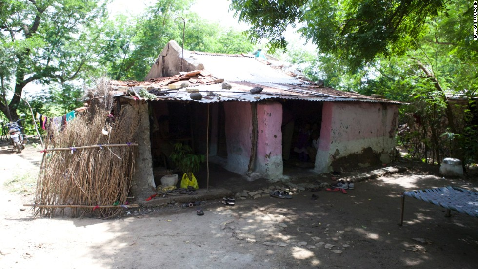 Sadhana's modest family home.
