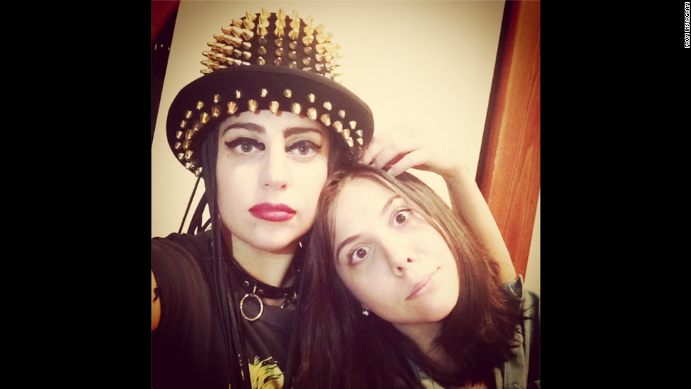 """Pop star Lady Gaga, left, <a href=""""http://instagram.com/p/rmc47mpFM1/"""" target=""""_blank"""">posted this photo</a> of her and her sister on Tuesday, August 12."""