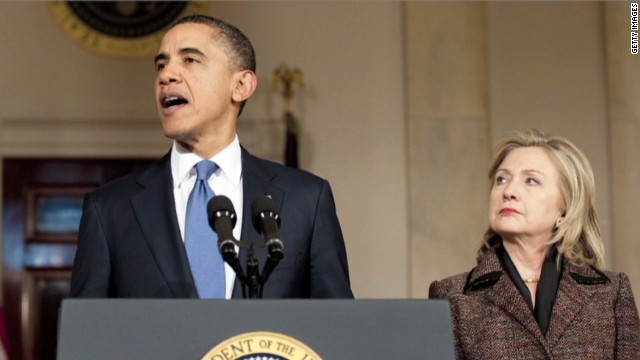 Clinton tries to mend ties with Obama
