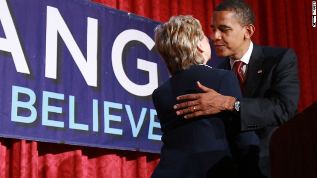 Clinton to 'hug it out' with Obama