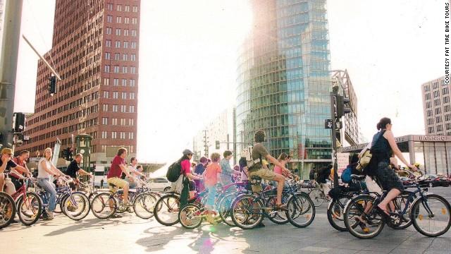 Berlin: where East Europe meets West, on a bike.