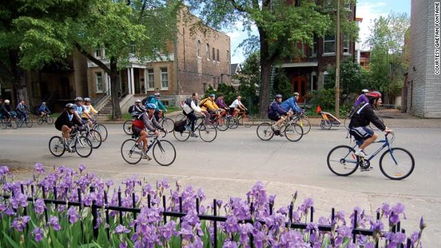 It's like being part of a public bike gang.