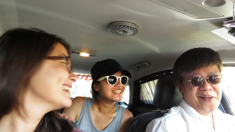 During the four-hour trip, travelers sit beside the driver while the taxi is available for hire as usual. Destinations are dictated by commuters who hire the taxi.