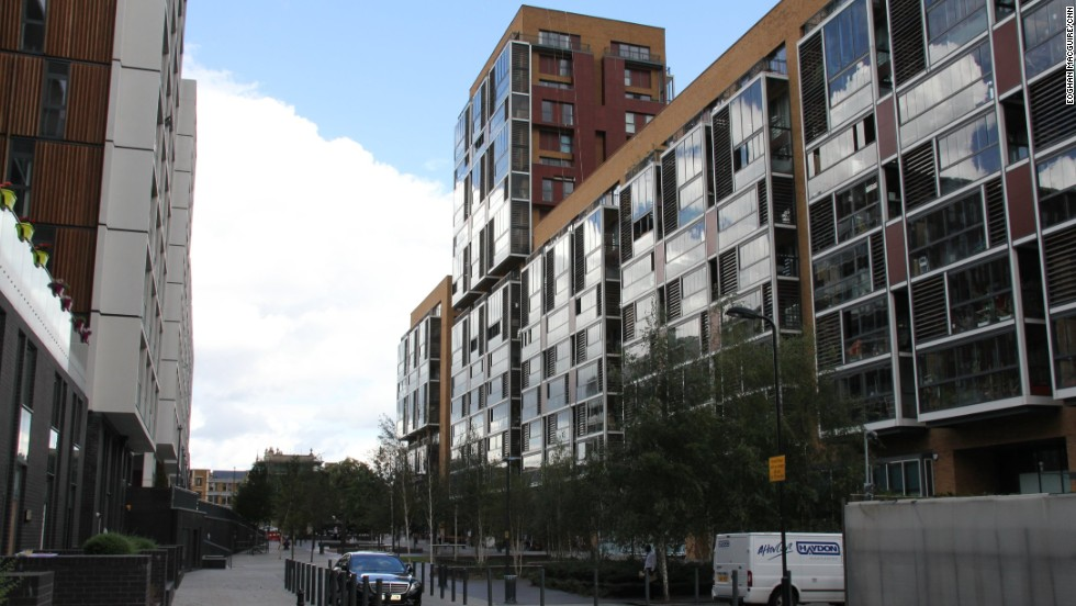 Flash new-build apartments like the stylish Dalston Square (pictured) have altered the appearance of many an east London neighborhood but some long-time residents say they have been priced out by the changes.