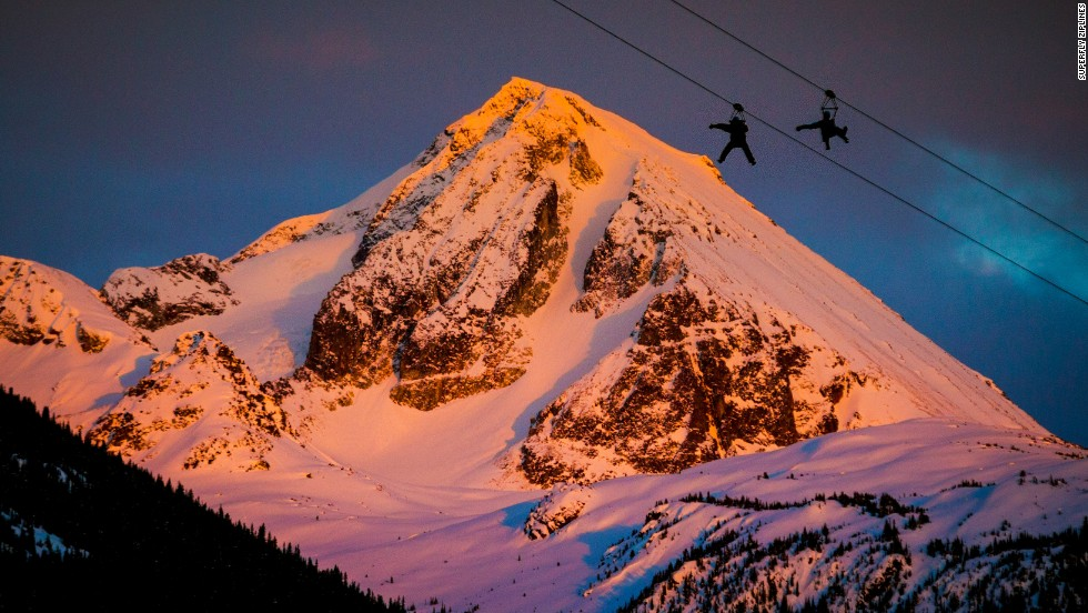 Whistler, B.C.'s Superfly Ziplines send you -- in near total darkness -- on a series of zips through remote stretches of nothing but snow and old growth forest, reaching speeds up to 62 mph.