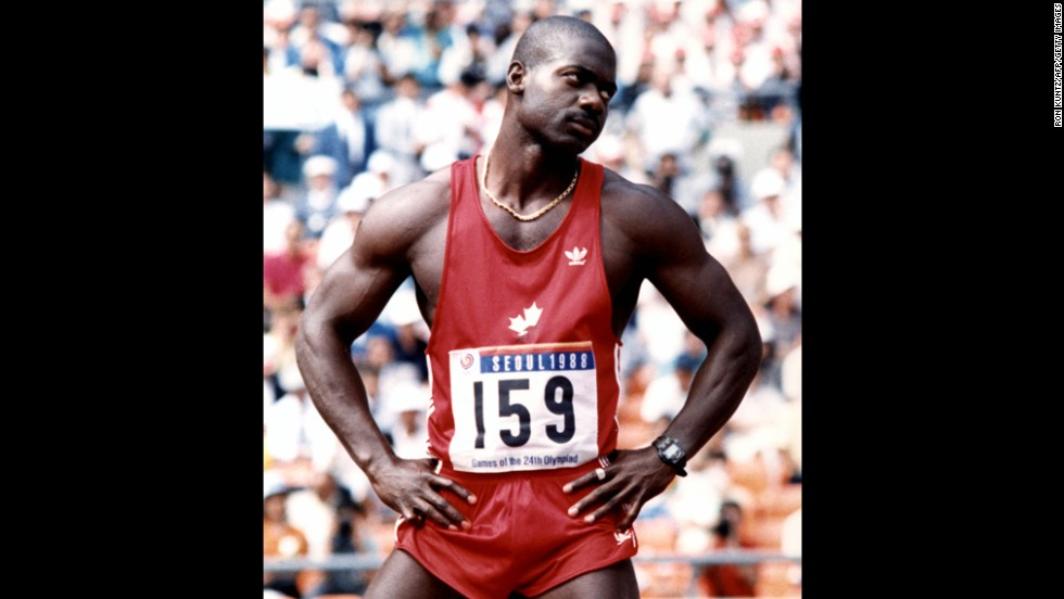 "Ben Johnson won the gold medal in the men's 100 meter final at the 1988 Summer Olympics but was stripped of the win after testing positive for a banned substance.  In 1993, the one-time ""world's fastest man"" was stopped cold by a lifetime suspension from track and field competition after failing another drug test."