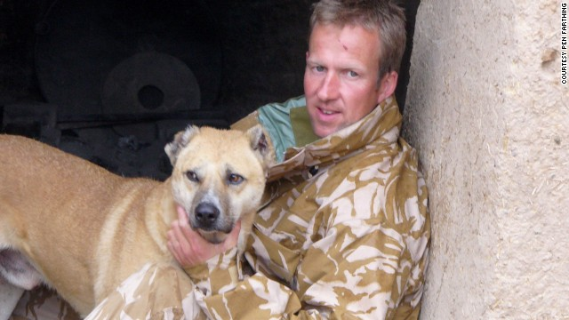 Pen Farthing, pictured in 2006 with Nowzad, helps reunite soldiers with the stray dogs they befriend in Afghanistan.