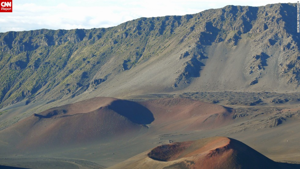 "The <a href=""http://ireport.cnn.com/docs/DOC-825914"">cinder cones </a>of Maui's Haleakala National Park form a stark volcanic landscape. Despite its desolate feel, the park is home to many <a href=""http://www.nps.gov/hale/index.htm"" target=""_blank"">endangered species</a>."