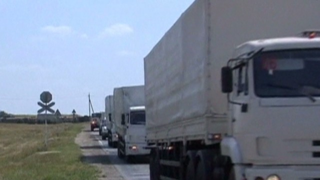 Aid convoy slowly coming in for Ukraine