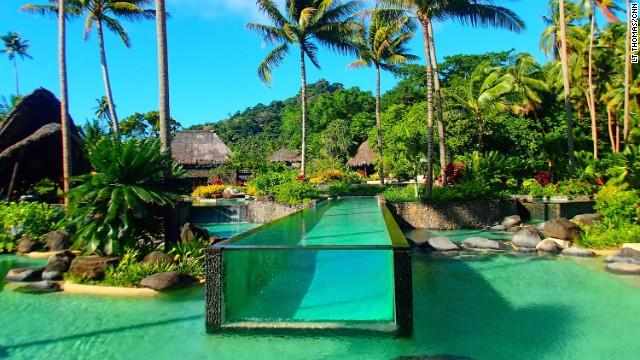Laucala Island's human fish tank.