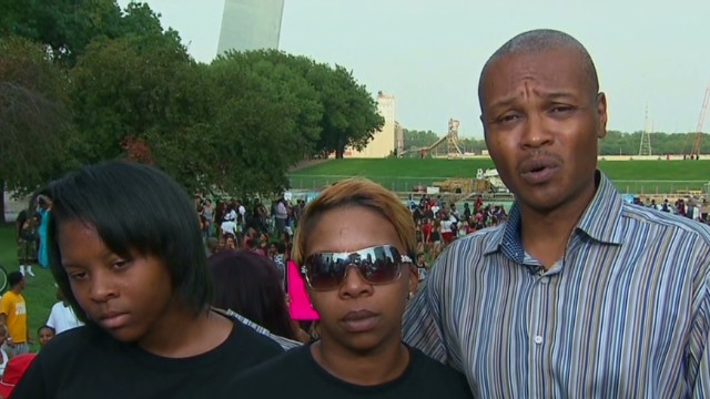 Michael Brown's cousin and mother