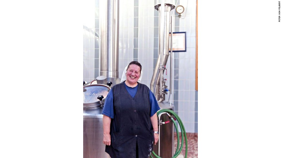 On brewing days, Sister Doris is excused from morning prayers and makes her way to the abbey brew house by 3.30 a.m.