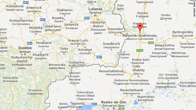 Map: Location of Russian convoy