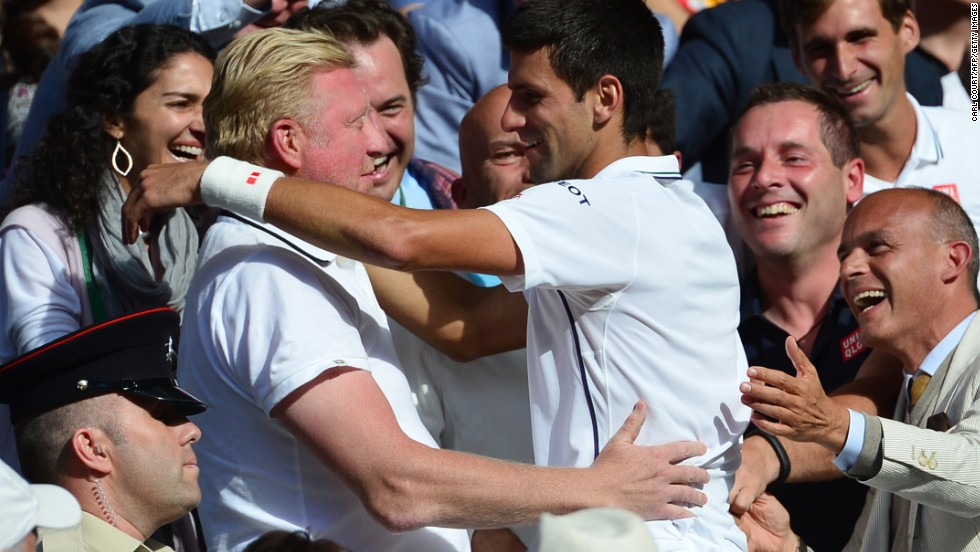 Novak Djokovic won his first grand slam title since hiring Boris Becker as coach at Wimbledon in July 2014.  The pair have been working together since December 2013.