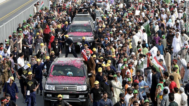 Anti-government protests in Pakistan