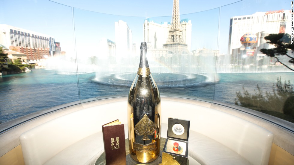 <strong>250K VIP package (Las Vegas)</strong>: For $250,000, guests at Hyde will get a center-stage seat on the Bellagio's patio with a 30-liter bottle of Champagne and the power to press a button and make the famous fountain fire up.