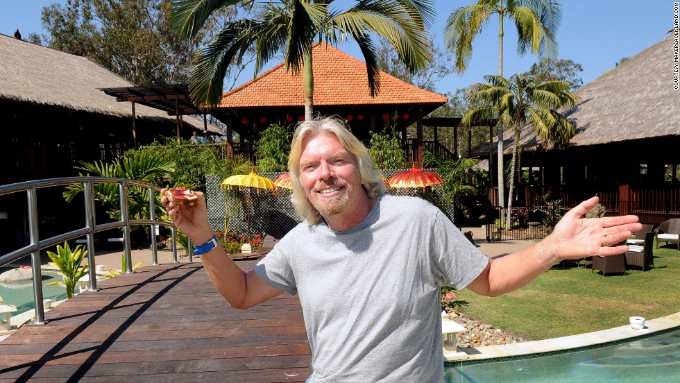 <strong>Renting Branson's Makepeace Island (Australia)</strong>: Makepeace is a heart-shaped island located in the middle of Queensland's Noosa River. There are hobie cats, tennis courts, an outdoor cinema and a huge pool. We're tired just thinking about it.