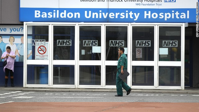 Some of those rescued from the shipping container were taken to Basildon University Hospital, east of London.