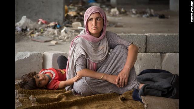 Many Yazidis, including Azwan's family, fled to Zakho, a city on the Turkish border.