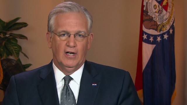 Missouri Gov Nixon on the investigation