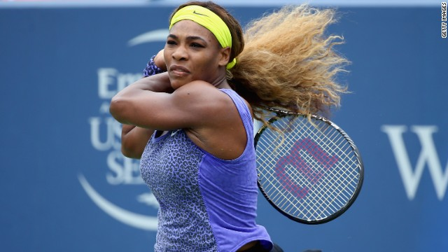 Serena Williams blasted past Ana Ivanovic to win her 62nd WTA title