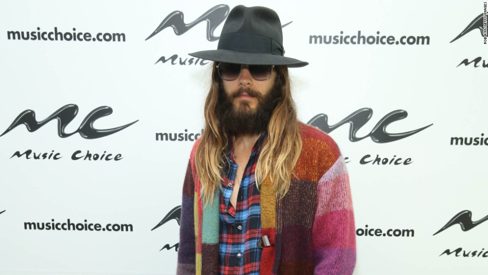 Jared Leto visits Music Choice on August 18 in New York City.