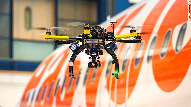 EasyJet announced in May 2014 that it would start trialing the use of drones as inspectors on their planes.