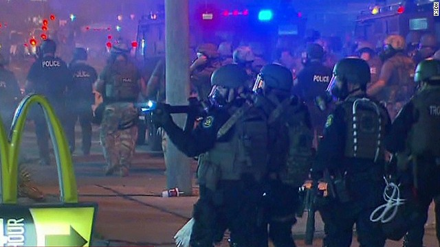 Ferguson police tactics under scrutiny