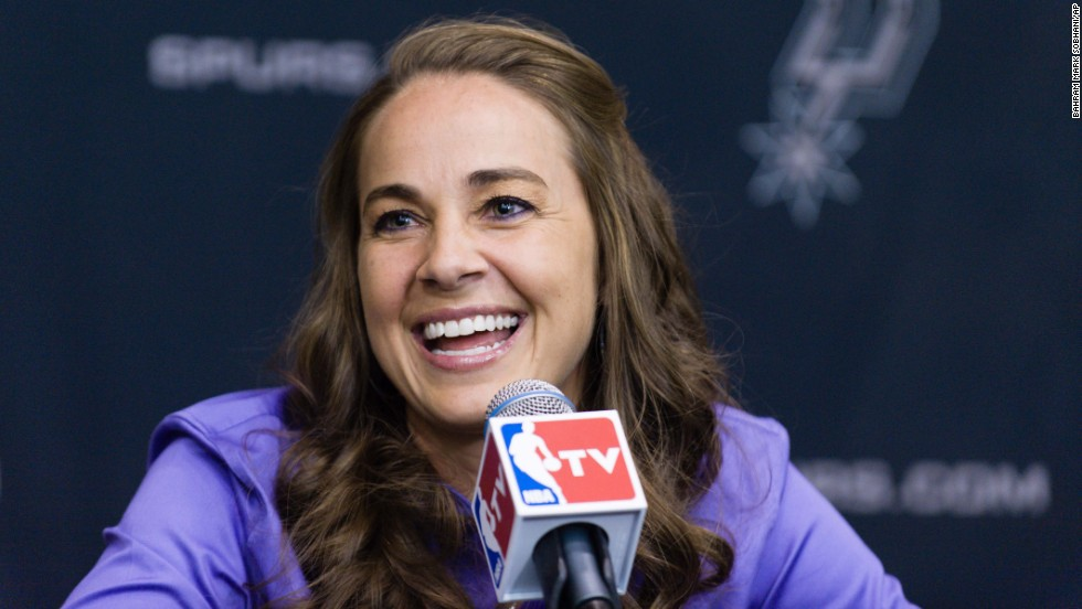 Former WNBA player Becky Hammon accepted a position as an assistant coach with the San Antonio Spurs in 2014, making her the first full-time, paid female assistant on an NBA coaching staff.