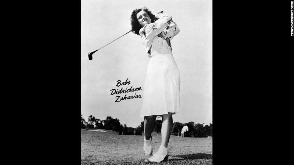 American golfer Babe Didrikson Zaharias was the first woman to play in a PGA Tour event during 1938's Los Angeles Open.