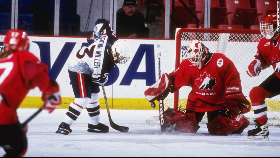 Canadian Manon Rheaume became the first woman to play in a regular-season professional hockey game in 1992 when she suited up for for the Tampa Bay Lightning.
