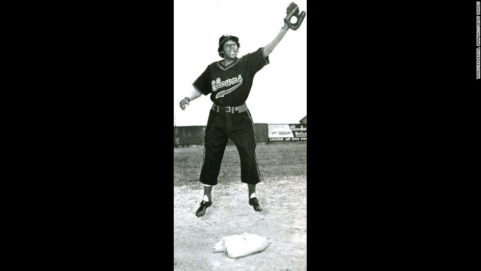 Toni Stone played shortstop for  the Indianapolis Clowns of the National Negro Leagues. Pictured here circa 1950, Stone is believed to be the first women to suit up regularly for a professional baseball team.