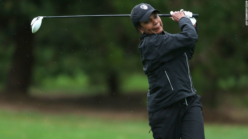 Former Secretary of State Condoleezza Rice was one of the first two women admitted as a members to the Augusta National Golf Club in 2012.