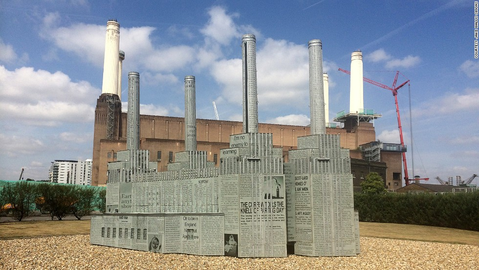 In the opening ceremony for the 2012 Olympics in London, Battersea Power Station was included as one of the city's seven most iconic buildings. This model, used in the ceremony, now stands in the grounds of the building.