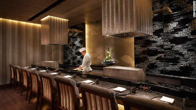 The tempura station at Mizuki, which also features sushi, teppanyaki and Kaiseki -- Japanese traditional haute cuisine.
