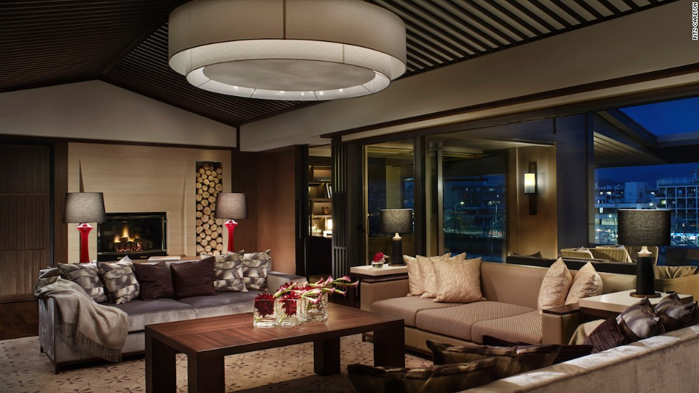 The living room in the 212-square-meter Ritz-Carlton Suite is spacious. The top option in the hotel, it has 600-thread-count linens