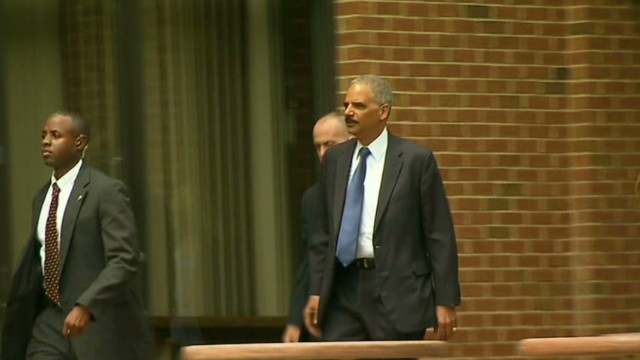 Eric Holder arrives in Ferguson, Missouri