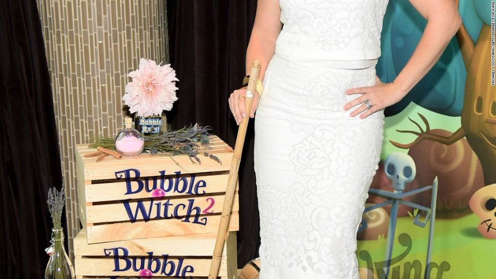 Melissa Joan Hart brushes up on her witch skills in New York City on August 19.