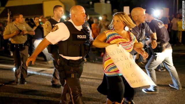 Tone changes overnight in Ferguson