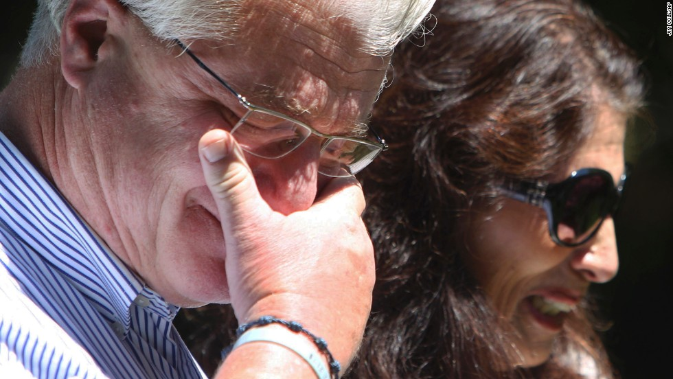 "After speaking with U.S. President Barack Obama by phone, John and Diane Foley talk to reporters outside their home in Rochester, New Hampshire, on Wednesday, August 20. Their son, <a href=""http://www.cnn.com/2014/08/20/us/james-foley-life/index.html"">freelance reporter James Foley</a>, was beheaded by ISIS militants in a video posted the day before. ""We have never been prouder of our son Jim,"" Diane Foley said. ""He gave his life trying to expose the world to the suffering of the Syrian people."""