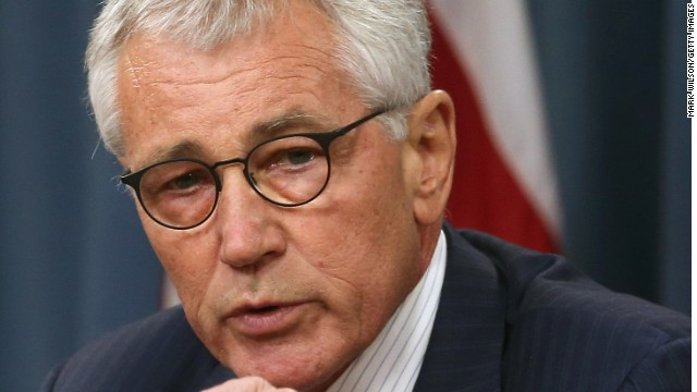 U.S. Secretary of Defense Chuck Hagel speaks to the media during a press briefing at the Pentagon August 21, 2014 in Arlington, Virginia. Secretary Hagel spoke about the terror group ISIS and the situation in Iraq.