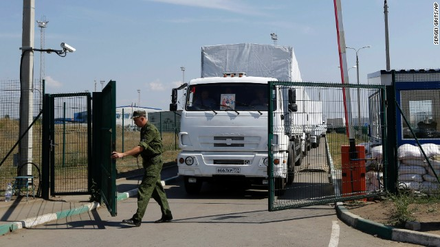 Questions return with Russian convoy