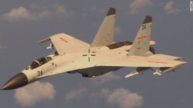 Chinese fighter jet flies near U.S. jet
