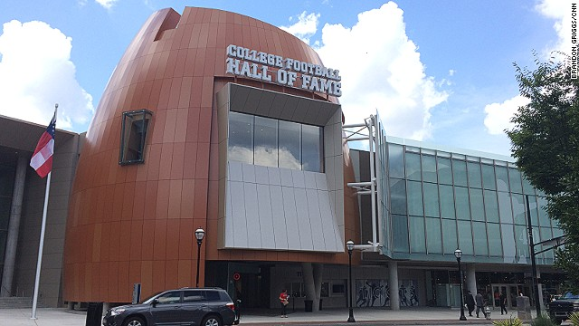 The College Football Hall of Fame reopened in August 2014 in new digs in Atlanta after moving from its former location in South Bend, Indiana.